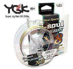 Плетеный шнур YGK G-soul SUPER Jigman x8 200m  №0.6