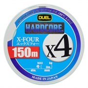 Плетеный шнур DUEL PE HARDCORE H3275Y x4 150m №1,0 Yellow max.8kg
