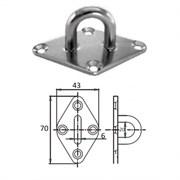 Планка ромб с проушиной 6 мм AISI 304 1023-0306