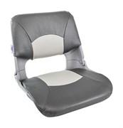 Кресло пластиковое мягкое SKIPPER, цвет серый/темносерый 1061017