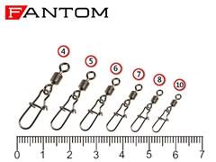 Вертлюг Fantom c застежкой YM-3023-#7-BN (10 шт)