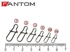 Застежка Fantom YM-2004-#000-BN Nice Snap (10шт)