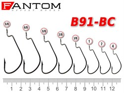Офсетный крючок Fantom B91-1/0-BC - фото 8003