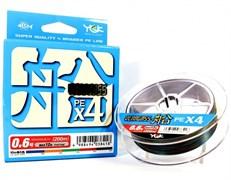 Плетеный шнур YGK Veragas X4 Fune 200m #1.5 25lb