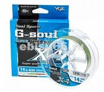Плетеный шнур YGK G-soul SUPER Jigman x4 200m  №1.5 25lb