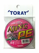 Плетеный шнур Toray AJING PE 150m 5Lb
