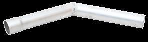 Труба отвод  Сибтермо  d45мм на 45° (200х270)