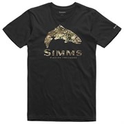 Футболка Simms Trout River Camo T-Shirt