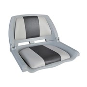 Сиденье пластиковое Skipper с виниловыми накладками SK75109GC