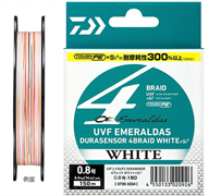 Плетеный шнур Daiwa Emeraldas Durasensor x4  White 0.4-150