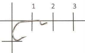 Офсетный крючок Saikyo 2312BN №8