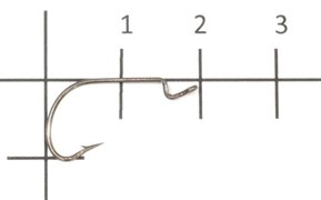 Офсетный крючок Saikyo 2312BN №6
