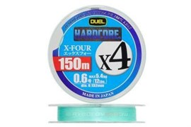 Плетеный шнур DUEL PE HARDCORE x4 #1.2 150m 9kg MilkGreen