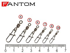Вертлюг Fantom c застежкой YM-3023-#8-BN (10 шт)